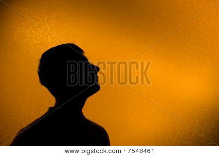 Look Ahead - Back Lit Silhouette Of Man
