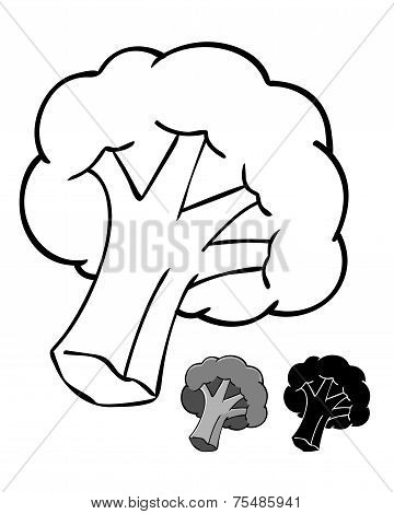Broccolli Silhouette