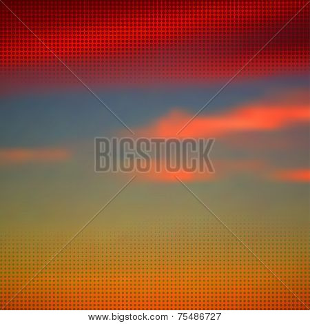 Abstract summer background with halftone overlay