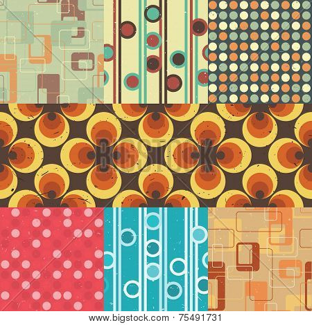 Seamless retro patterns
