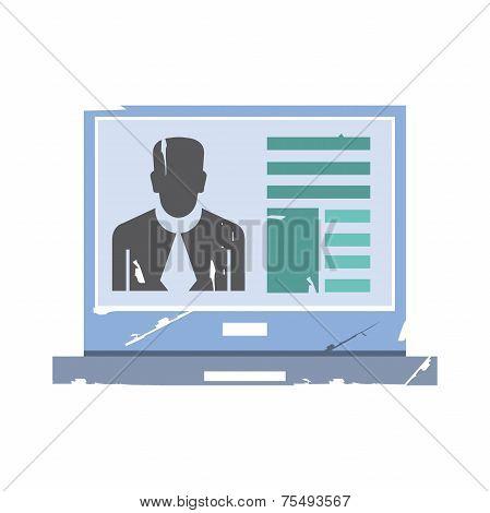 online meeting vector