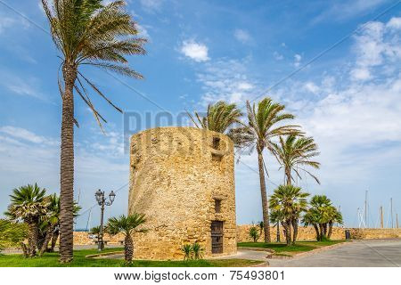 Watchtower In Alghero,
