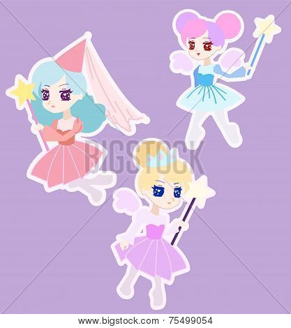 Cute Fairy Princess Character With Wings