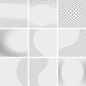 stock photo of dots  - Set of dotted abstract forms - JPG