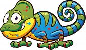 pic of chameleon  - Cartoon chameleon - JPG
