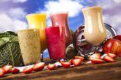 foto of fruit shake  - Healthy diet - JPG