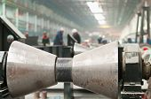 image of ferrous metal  - Rolling forming roll metal works on manufacture of pipes - JPG