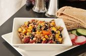 foto of kidney beans  - A Sedona salad with rice kidney beans corn back beans and more - JPG