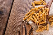 stock photo of whole-grain  - Portion of Fussili  - JPG