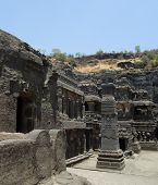 foto of ellora  - scenery at the Ellora Caves in the state Maharashtra located in India - JPG