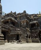 pic of ellora  - scenery at the Ellora Caves in the state Maharashtra located in India - JPG