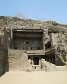 picture of ellora  - scenery at the Ellora Caves in the state Maharashtra located in India - JPG