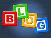 stock photo of youngster  - Blog Blocks Meaning Youngster Childhood And Youth - JPG