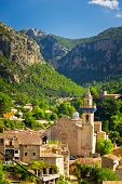 picture of chopin  - Beautiful view of Valldemossa city Mallorca Spain - JPG