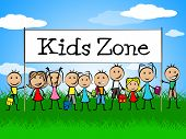 image of youngster  - Kids Zone Banner Meaning Youngster Child And Joyful - JPG