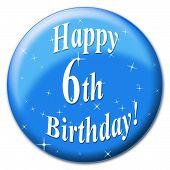 foto of congratulations  - Happy Sixth Birthday Indicating Congratulation Congratulations And Celebrate - JPG