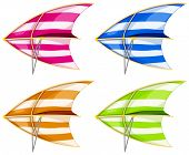 pic of hang-gliding  - Set of 4 colorful hang gliders - JPG