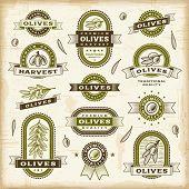 foto of olive shaped  - Vintage olive labels set - JPG