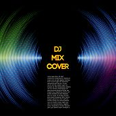 picture of vibrator  - DJ mix cover with music waveform as a vinyl grooves - JPG