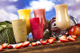 picture of fruit shake  - Healthy diet - JPG