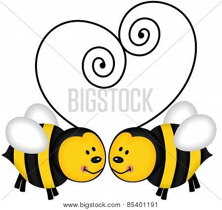 Bees Forming Heart