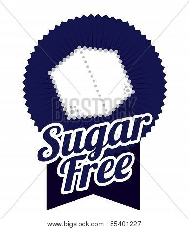 Sugar free over white background vector illustration