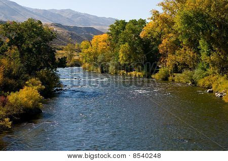 Truckee River In Fall