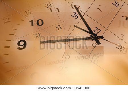 Relógio calendário