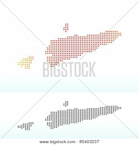 Map Of Democratic Republic Timor-leste With Dot Pattern