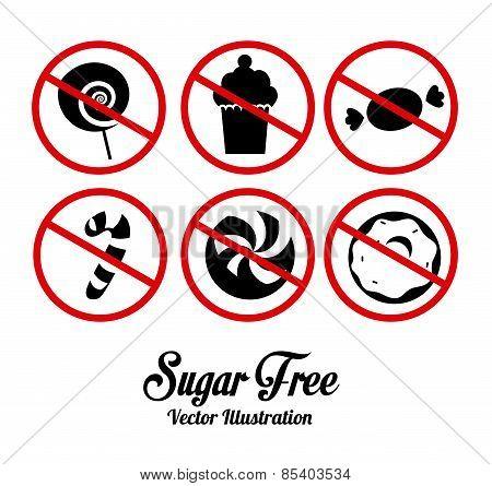 Sugar free design over white background vector illustration