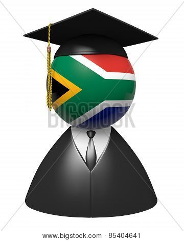 South Africa college graduate concept for schools and academic education
