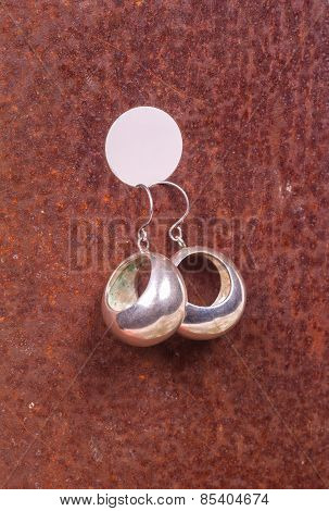 Close Up Of Silver Earrings