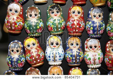Colorful Russian Toy Dolls Matreshka Fridge Magnets