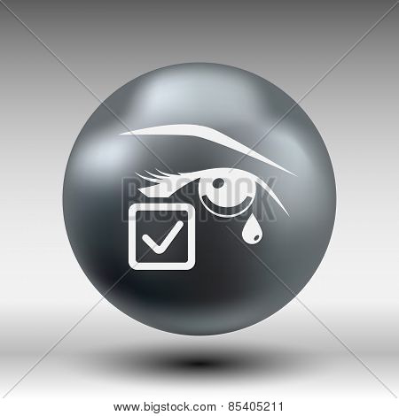 Eye with tears vector illustration eye isolated sign symbol illustration icon