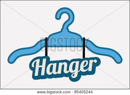 Hanger design over white background vector illustration