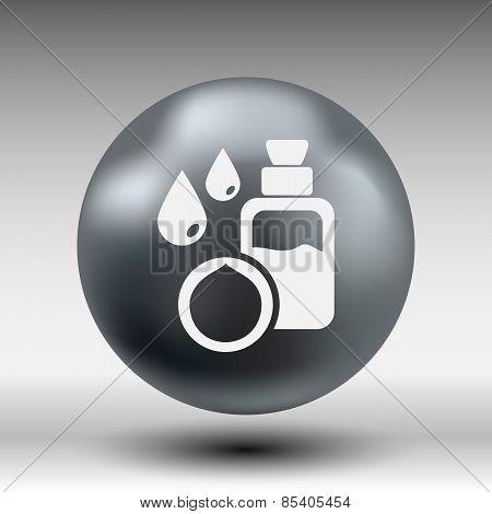 Macadamia natural oil, Vector illustration