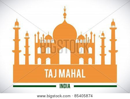 India design over white background vector illustration
