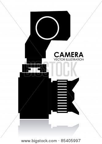 Camera design over white background vector illustration