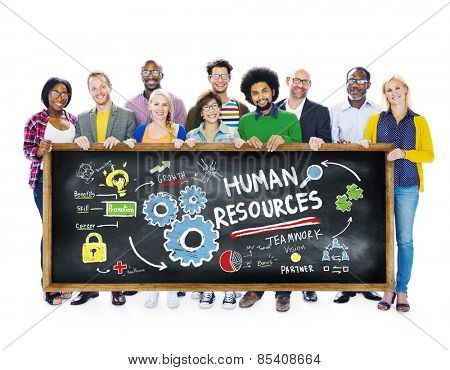 Human Resources Employment Job Teamwork Students Education Concept