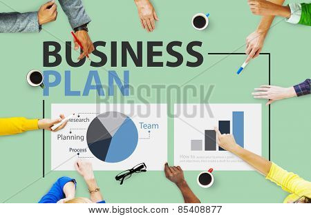Business Plan Planning Strategy Meeting Conference Seminar Concept