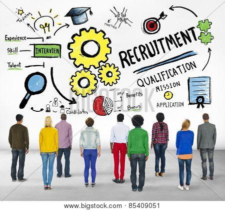 Ethnicity People Standing Recruitment Professional Concept