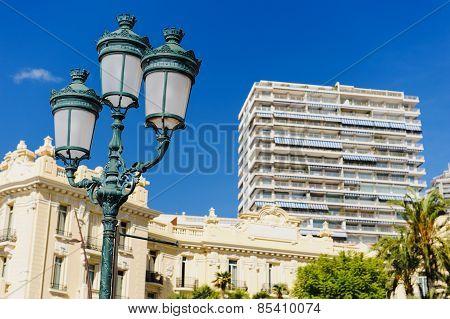 Lamp street in Monaco.