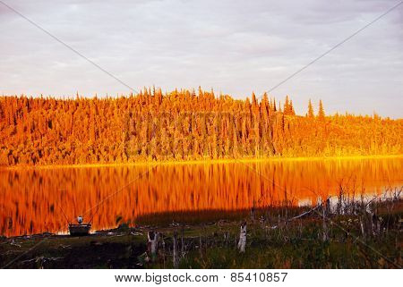 Alaskan Lake on Fire