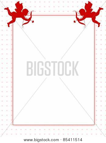 Cupid Valentine's Day Background/ Border