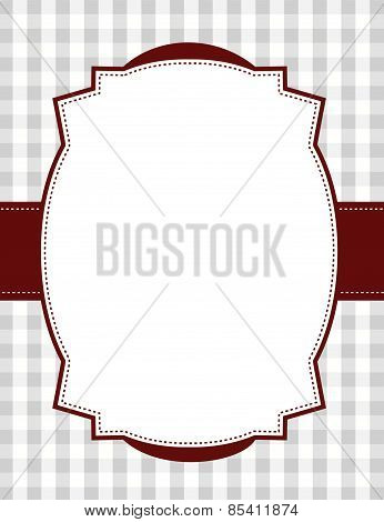Gingham Background With Frame