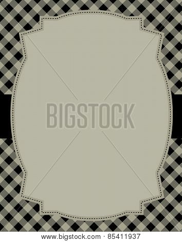 Retro Gingham Background And Frame
