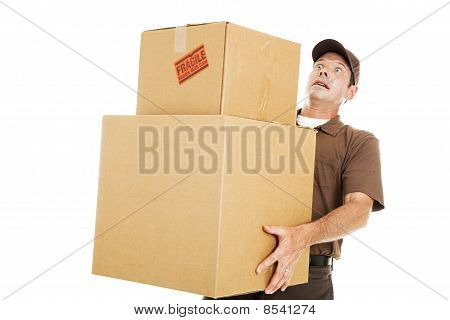 Overwhelmed Delivery Guy