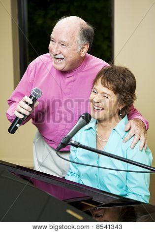 Singing Senior Couple