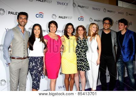 LOS ANGELES - MAR 15:  Jane the Virgin Cast at the PaleyFEST LA 2015 -