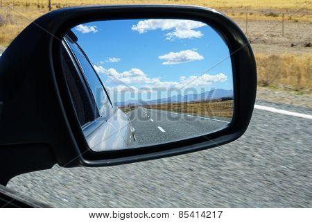 rear view in mirror.